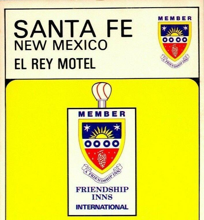 Santa Fe NM Nuevo México El Rey Motel 9x4 Amistad Posada Unp Vtg Cromo Postal