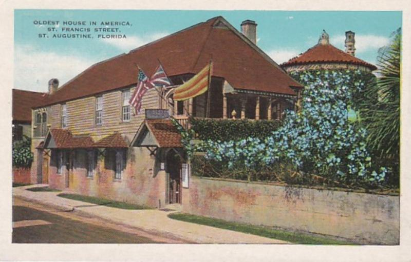 Florida St Augustine Oldest House In America St Francis Street 1931