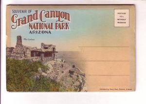 Grand Canyon National Park, Arizonia, Souvenir Folder, 18 Images