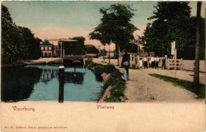 CPA VOORBURG Vlietweg NETHERLANDS (605003)