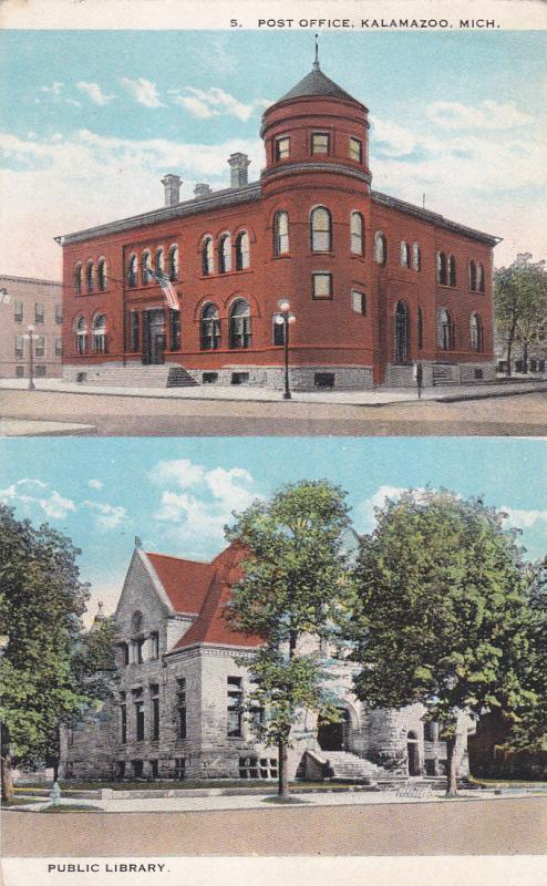 KALAMAZOO , Michigan , 00-10s ; Post Office & Library