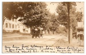 1906 RPPC Main Street, Chester, MA Very Early Truck Real Photo Postcard