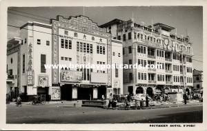 singapore, Southern Hotel, Majestic Theatre (1950s) RPPC