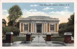 Case Memorial Library, Auburn, New York, Early Postcard, Unused