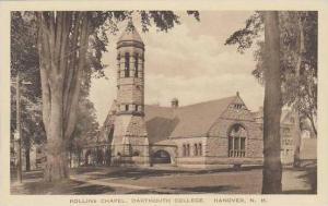 New Hampshire Hanover Dartmouth College Rollins Chapel Albertype