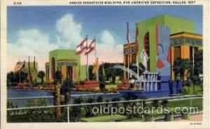 Varied Industrial Building Pan American Exposition 1937 Dallas Texas USA, Pos...