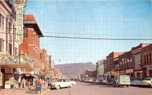 Middlesboro KY  Manring Theatre Movie Marquee Old Cars Store Fronts Postcard