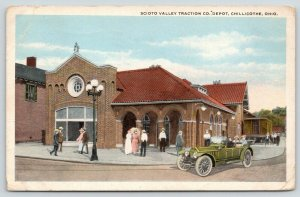 Chillicothe OH Clay Tile Roof~Scioto Valley Traction Electric Trolley Depot 1920