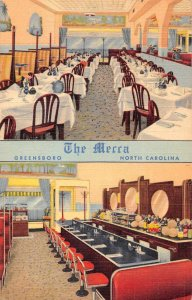 Greensboro North Carolina The Mecca Restaurant Vintage Postcard JI658086