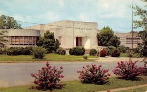 Tupelo Mississippi~Art Deco~Clock on Wall of Primary School~Postcard 1950s