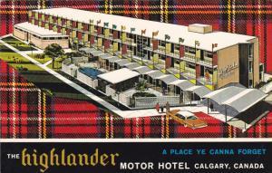 CALGARY, Alberta, Canada; The Highlander Motor Hotel, Swimming Pool, Tartan, ...