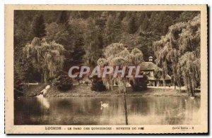Old Postcard Luchon The Park Quinconges