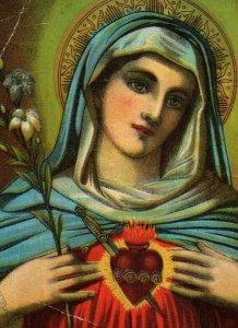 1880s-90s Religious Mary Sacred Heart P222