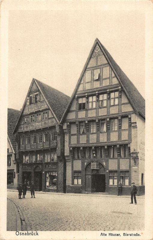 Osnabruck Alte Hauser Bierstrasse Street Postcard