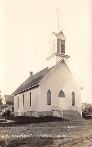 Floyd Iowa~Roman Catholic? Reformed Christian? Church~House~Dirt Road~c1912 RPPC