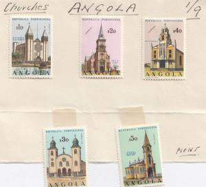 Angola Mint Set of $40 $50 etc Church Stamp Set