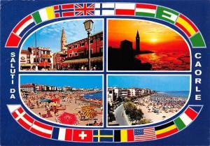 Italy Saluti da Caorle multiviews Spiaggia beach Lighthouse Sunset
