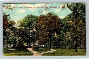 Plainfield NJ-New Jersey, Public Park, Vintage c1914 Postcard