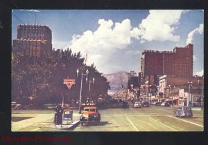 OGDEN UTAH DOWNTOWN MAIN STREET SCENE 1940's CARS TRUCK VINTAGE POSTCARD OLD