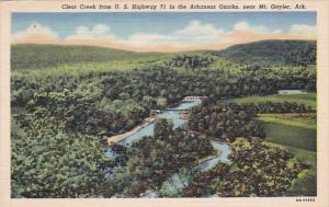 Arkansas Mount Gayler Cloear Creek From U s Highway 71 In The Arkansas Ozarks