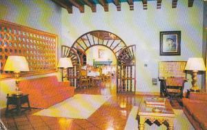 Mexico Lobby Hotel Posada Del Rey Zimapan 1955