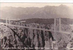 Colorado Canon City Suspension Bridge Over The Royal Gorge Sanborn Real Photo