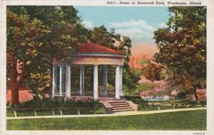 Illinois Waukegan Scene In Roosevelt Park Curteich