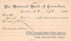 National Bank of Greensboro Greensboro, NC, USA 1884