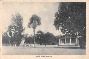 German East Africa Tanzania Tanga Bismarckplatz, Postkarte Postcard