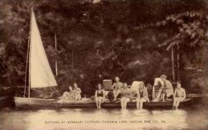 Pennsylvania Tafton Bathing At Ikenmary Cottage Fairview Lake Artvue