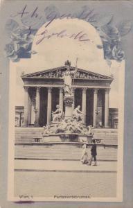 Wien I. Parlamentsbrunnen , Austria , PU-1918