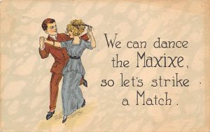 Motto & Sayings Post Card We Can Dance the Maxixe 1910