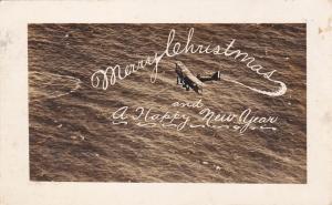 RP; US Air Service, Merry Christmas & Happy New Year, Biplane, Virginia, PU-1923