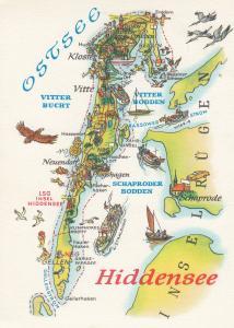 Ostsee Baltic Sea German Germany Ferry Boat Sailing Ship Karte Map Postcard
