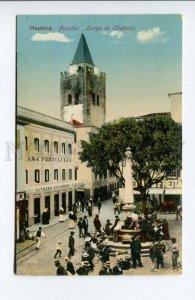 424429 PORTUGAL MADEIRA Funchall Largo do Chafariz Fountain Square OLD postcard