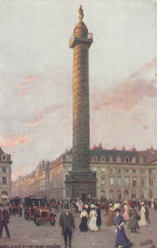 PARIS, France, 1900-10s; Place Et Colonne Vendome, TUCK 125 No 94