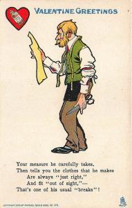 Valentine's Day Valentine Poem Raphael Tuck #7 Postcard Tailor