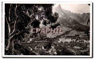 Old Postcard Corsica Corsica Porto Bridge and & # 39hotel