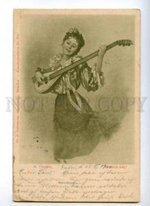 149330 BELLE Woman Musician by TORGGLER vintage PC