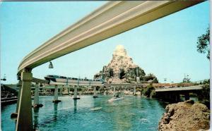 DISNEYLAND, CA California   View of MONORAIL, MATTERHORN   1961   Postcard
