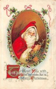 Santa Claus Postcard Old Vintage Christmas Post Card 1914 missing Stamp
