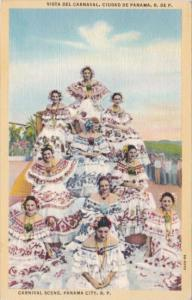 Panama City Carnival Scene Locals In Typical Costume 1941 Curteich