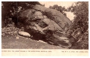 Connecticut  Montville , Cochegan Rock , Largest boulder in the United States