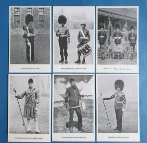 The British Army - FOOT GUARDS Postcards Set of 6 by Geoff White Ltd