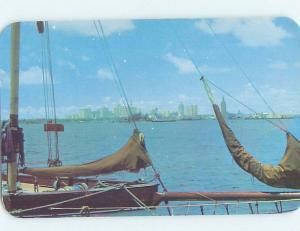 Unused Pre-1980 SKYLINE FROM THE SAILBOATS Miami Florida FL F8895