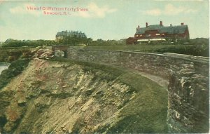 Cliff View from Forty Steps, Newport RI Postcard
