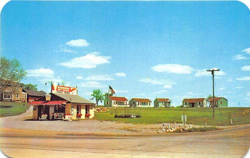 Remsen NY Breezy Acres Motel Ice Cream Stand Candy Pepsi Sign Vintage Postcard