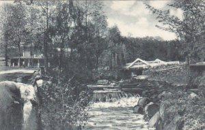 Wishing Bridge The Glenwood Mill Rift Pennsylvania Albertype