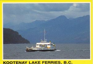 Canada British Columbia M V Balfour Ferry Kootenay Lake Ferries