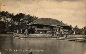 CPA INDONESIA De Poerie en de vijver, Tjakranegara (341470)